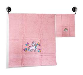 Little Jamun Premium Bath Cotton Towel - The Magical Unicorn Print