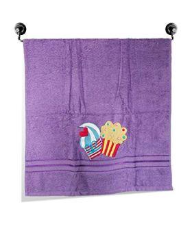 Little Jamun Premium Bath Cotton Towel - Cupcake Print