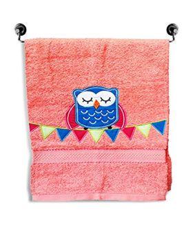 Little Jamun Premium Bath Cotton Towel - The happy owl Print