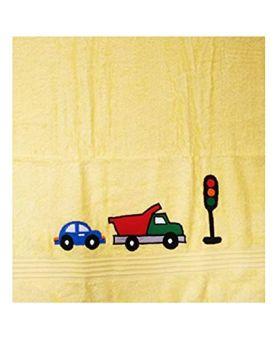 Little Jamun Premium Bath Cotton Towel - Zooming Car Print