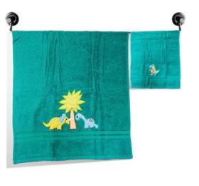 Little Jamun Premium Bath Cotton Towel - Dino World Print