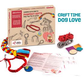Chalk and Chuckles Art and Craft DIY Gift- Dog Collar and Fleece Tug Toy