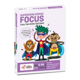 Chalk and Chuckles Superhero Animal Focus Card Game