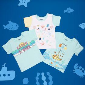 Kicks & Crawl- Underwater Adventure T-shirts- 3 Pack