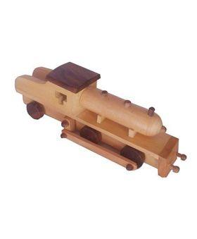 Desi Karigar Wooden Toy Train Engine - Brown
