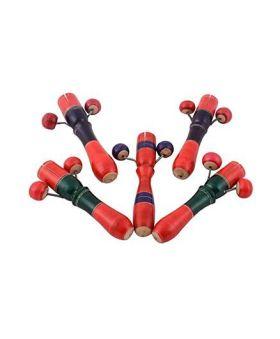 Desi Karigar Wooden Toy Tic Tock Noise Maker Set Of 5 - Multicolor