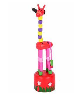 Desi Karigar Wooden Toy Giraffe (Colors May Vary)