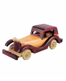 Desi Karigar Hand carved Wooden Jeep Toy - Brown