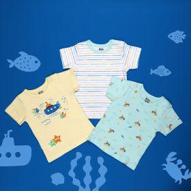 Kicks & Crawl- Submarine Seas Baby T-shirts- 3 Pack