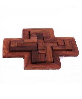 Desi Karigar Handmade Jigsaw Puzzle Brain Treasure Game - 9 Pieces