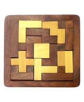 Desi Karigar Wood Jigsaw Puzzle - Brown