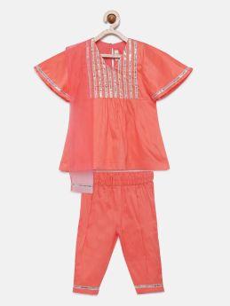 Tutus by Tutu-Bell sleeves gota Kurta pyjama with Dupatta