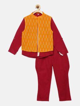 Tutus by Tutu-Shirt with Balloon Pants and Ikat Jacket