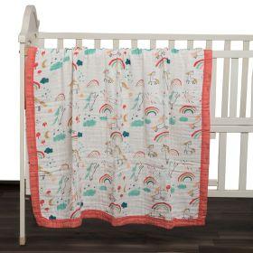 Kicks & Crawl - Unicorns & Dreams Quilted Muslin Blanket