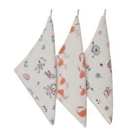 Kicks & Crawl - Cotton wash cloth-Cute Animals