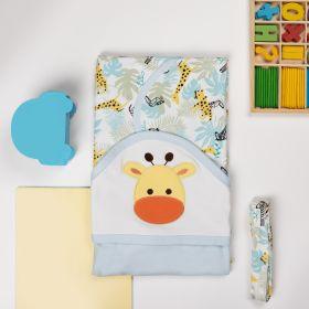 Kicks & Crawl -Baby Giraffe Hooded Wrapper
