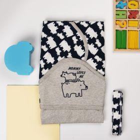 Kicks & Crawl -Mommy Bear Hooded Wrapper