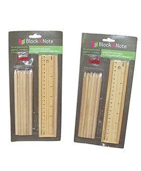 Desi Karigar Wooden Stationery Gift Set Combo Pack of 2 - Beige