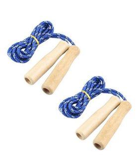 Desi Karigar Wooden Handle Skipping Rope Set of 2 - Blue