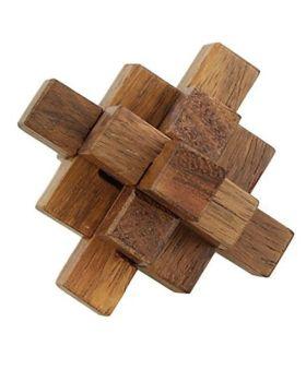 Desi Karigar Handmade Wooden Crystal Puzzle - Brown