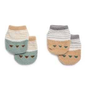 Kicks and Crawl- Anti Skid socks-Yellow and Green (pack of 2)