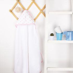 Kicks & Crawl - Towels - Baby Stars Muslin Hooded Towel