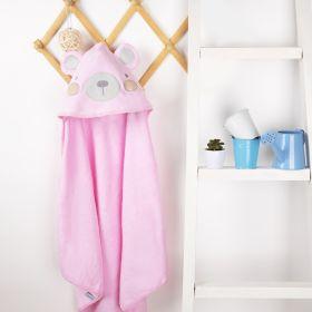 Kicks & Crawl - Pink Bear Hooded Towel