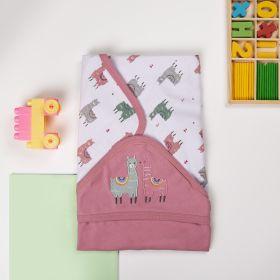 Kicks and Crawl-Llamas hooded wrapper