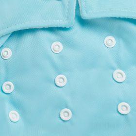 Kicks and Crawl-Reusable Baby Blue Cloth Diaper