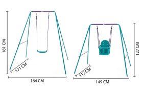 Plum Metal 2-in-1 Swing Set