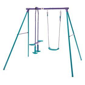 Plum Helios Metal Single Swing and Glider Set