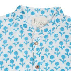 ItsyBoo-LIGHT BLUE FLOWER- KURTA PAJAMA SET