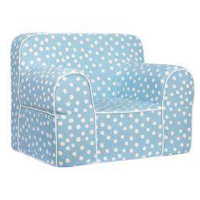 Role Play Kids-Role Play Comfy Sofa - Blue Base white dot