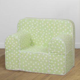 Role Play Kids-Role Play Comfy Sofa- Green Base white dot