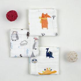 Baby Moo-I Love Animals Multicolour 3 Pk Small Muslin Napkin