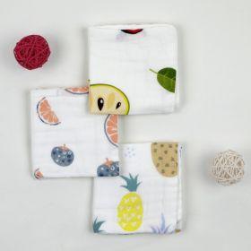 Baby Moo-Fresh & Fruity Multicolour 3 Pk Small Muslin Napkin