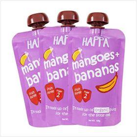 HappaFoods-Apple+Mango Puree (Pack of 3)