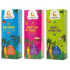 The Growing Giraffe Ragi Cookies + Honey and Oat Cookies + Quinoa Almond Bars Combo Pack (200 gm each)