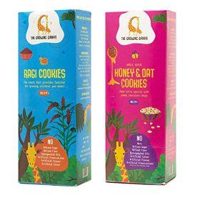 The Growing Giraffe Ragi Cookies + Honey and Oat Cookies Combo Pack (200 gm each)