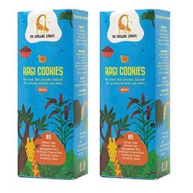 The Growing Giraffe Ragi Cookies (Pack of 2), 200 gm each