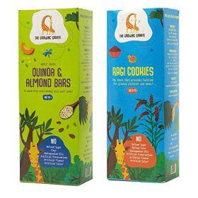 The Growing Giraffe Quinoa Almond Bars + Ragi Cookies Combo Pack (200 gm each)