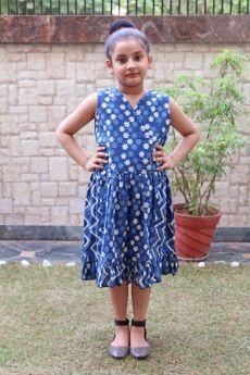 Simply Kitsch-Dabu Printed Patch Dress