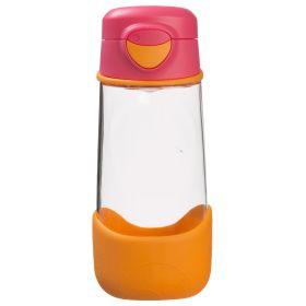 b.box Tritan Sport Spout Drink Bottle 450ml- Strawberry Shake Pink Orange