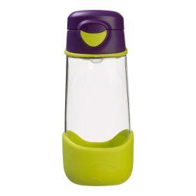 b.box Tritan Sport Spout Drink Bottle 450ml - Passion Splash Purple Green