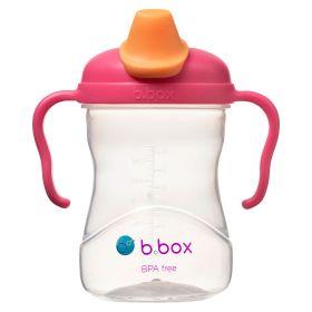 b.box Soft Spout Cup 240ml- Rasberry Pink Orange