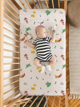 Rabitat Flat Crib Sheet Young Wild Free V1