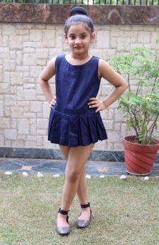 Simply Kitsch-Cotton Silk Pletaed Short dress