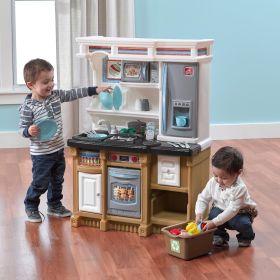 Step2 Lifestyle Custom Kitchen   Play Kitchen & Toy Accessories Set   Kids Kitchen Playset