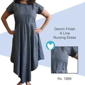 MoMoms-A Line Dress