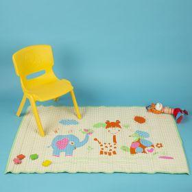 Baby Moo-I Love Animals Green Air Filled Waterproof Massage Mat